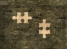 Puzzle on the bark. Illustration of puzzle on the bark Royalty Free Stock Photos