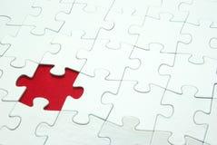 Puzzle bianchi Fotografie Stock Libere da Diritti