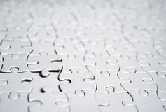 Puzzle bianchi Fotografia Stock