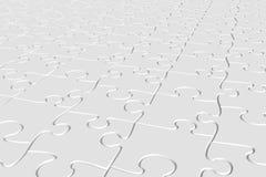 Puzzle bianco Immagini Stock