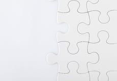 Puzzle bianco fotografia stock