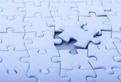 Puzzle bianco in bianco Fotografia Stock