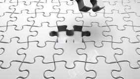 Puzzle bianco del puzzle illustrazione di stock