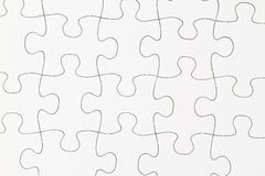 Puzzle in bianco dettagliatamente Immagine Stock Libera da Diritti