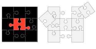 Puzzle bianco e nero Fotografia Stock Libera da Diritti