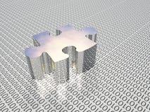 Puzzle binario illustrazione di stock
