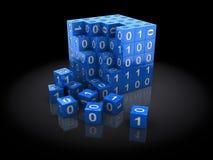 Puzzle binario Fotografia Stock Libera da Diritti