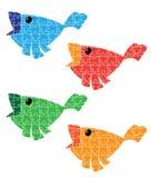 Puzzle bird set Stock Photos
