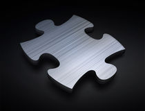 Puzzle black isolated Royalty Free Stock Image