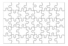 puzzle blanc Image libre de droits