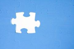Puzzle bleu Photo libre de droits