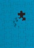Puzzle bleu  Photos libres de droits