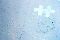 Puzzle bleu Photographie stock