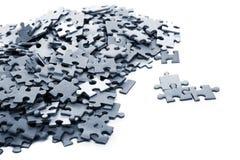 puzzle bleu d'éléments Images libres de droits