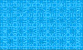 Puzzle bleu de 375 morceaux de puzzles - vecteur Photographie stock libre de droits