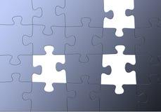 Puzzle bleu, pièces manquantes Image libre de droits