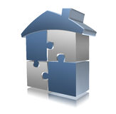 puzzle block house Stock Photography