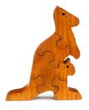 Puzzle blocks make a kangaroo Royalty Free Stock Photos