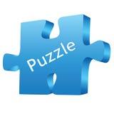 Puzzle blue Stock Images