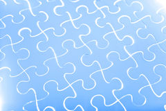Puzzle in blue Royalty Free Stock Images