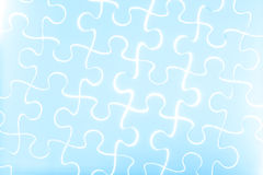 Puzzle in blue Royalty Free Stock Photography