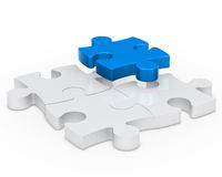 Puzzle blue Stock Photography