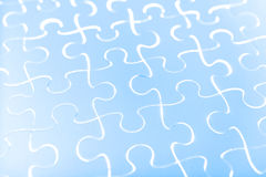 Puzzle in blue Stock Image