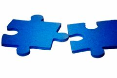 Puzzle - Blue Contact Royalty Free Stock Images