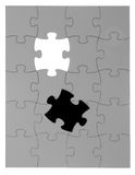 Puzzle board with the final pieces Royalty Free Stock Photography