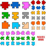 Puzzle Border Pieces Royalty Free Stock Photo