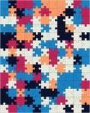 Puzzle brillant coloré illustration de vecteur