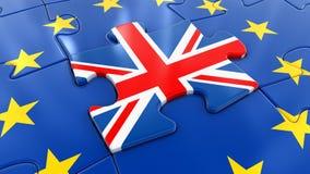 Puzzle BRITANNIQUE en tant qu'élément d'UE Image stock