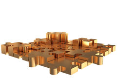 Puzzle Build Gold Royalty Free Stock Image