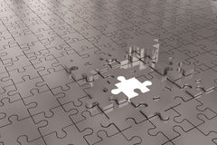 Puzzle Build Plane Silver Royalty Free Stock Image