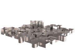 Puzzle Build Silver Stock Photos