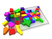 Puzzle build USA. Stock Images