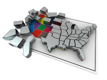Puzzle build USA. Royalty Free Stock Image