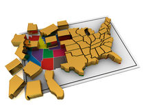 Puzzle build USA. Royalty Free Stock Images