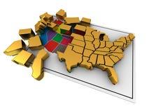 Puzzle build USA. Royalty Free Stock Photos
