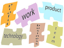 Puzzle business. Text word for success Stock Image