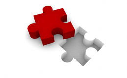 Puzzle and business Stock Image