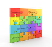 Puzzle business in colors Stock Photos