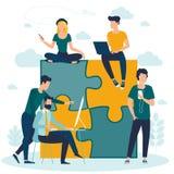 puzzle business concept stock photos
