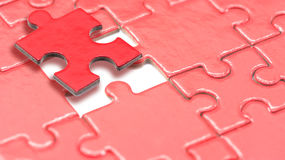 Puzzle for business concept Stock Photography