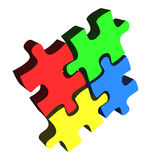 Puzzle business concept Stock Photo