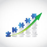 Puzzle business graph illustration design Royalty Free Stock Photos