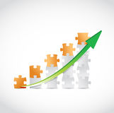 Puzzle business graph illustration design Royalty Free Stock Photo