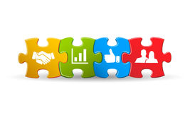 Puzzle with business icon Stock Image