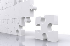 Puzzle for business teamwork Royalty Free Stock Photos