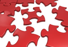 Puzzle business teamwork concept Stock Photography